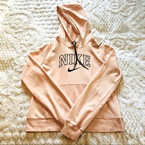 Girl's Nike Hoodie, size M, pink with navy writing